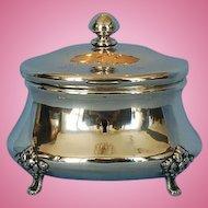 Early 19th Century Polish 750 Fine Silver Sugar Box