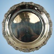 Vintage Danish Chippendale-style 800 Silver Service Plate by Dragsted