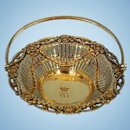 18th Century English Sterling Silver Gilt Basket by Emick Romer