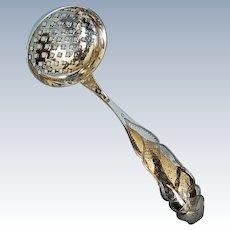 19th Century Dutch 833 Fine Silver Sugar Sifting Ladle