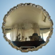 Early 19th Century Old Sheffield Plate Crested Charger by I. & I. Waterhouse & Company