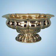 19th Century German 800 Fine Silver Bowl allover Hand-hammered