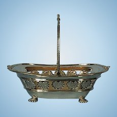 Late Victorian Sterling Silver Footed Basket by Martin, Hall & Co.