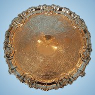 Early 19th Century English Sterling Silver Salver by Robert Gainsford