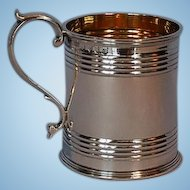 Early 19th Century Scottish Sterling Silver Mug with Gilt Interior by Elder & Co.