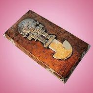 Mid-Century Vintage Peruvian Mixed Metal Plaque with Inca El Tumi Ceremonial Knife