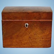 19th Century English Mahogany Tea Caddy