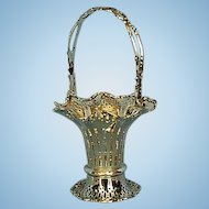 Vintage English Sterling Silver Bonbon Basket by Mappin & Webb