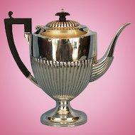 "Mid-Century Birks Sterling Silver ""Queen Anne"" Coffee Pot"