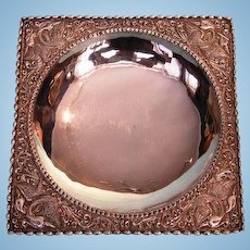 Turn of the Century Silver Square-form Dish
