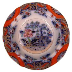 Early 19th Century English Stone China Soup Plate