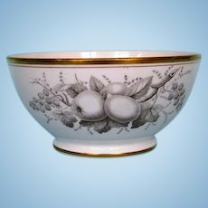 Early 19th Century Spode Bat-Printed Bowl with Gilt Trim