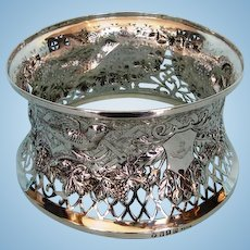 Antique Irish Sterling Silver Dish Ring by Sharman D. Neill