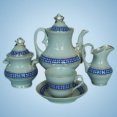 19th Century Child's Continental Porcelain Coffee Service