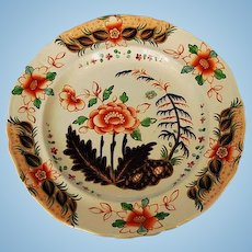 Early 19th Century Georgian Ironstone Plate in Imari Pattern by Davenport