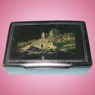 Mid-19th Century English Papier-Maché Snuff Box