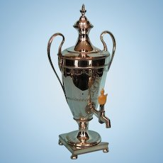 18th Century Old Sheffield Plate Crested Tea Urn