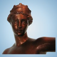 19th Century Italian Bronze Statue of Venus of Capua after the Original Statue in Napoli