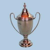 1933 English Sterling Silver Two-handled Trophy Cup & Cover by J. Richard Attenborough