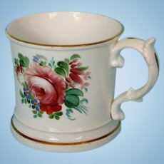Mid-19th Century English Coalport Porcelain Christening Mug