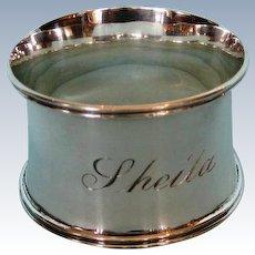 Antique English Sterling Silver Napkin Ring in Original Case