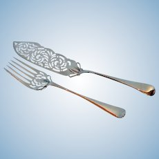19th Century Re-plated Old English Pattern Fish Servers by Elkington & Company