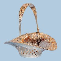 Antique American Sterling Silver Swing-handled Bonbon Basket