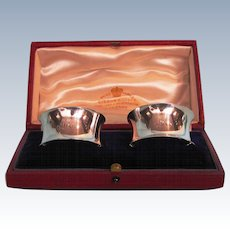 Pair 1905 English Sterling Silver Napkin Rings by Edward John Haseler & Noble Haseler