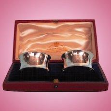 Pair 1905 English Sterling Silver Napkin Rings by Edward John Haseler & Noble Haseler