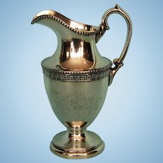 19th Century English Silverplate Ewer-shaped Creamer by James Dixon & Sons