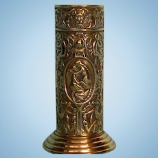 Turn of the Century French Brass Spill Vase with Venus and Cupid