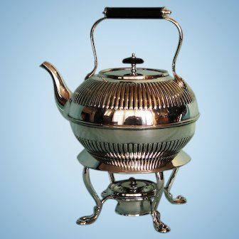19th Century English Silverplate Kettle on Stand by Elkington