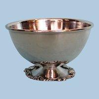 Vintage South American .900 fine silver pedestal bowl