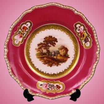 19th Century Davenport Porcelain Dessert Plate
