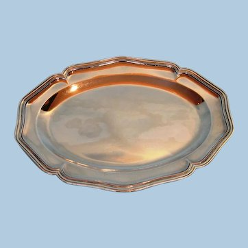 Early 19th Century Canadian Sterling Silver Meat Platter by Laurent Amiot