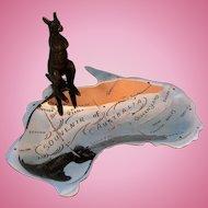 Vintage Australian Kangaroo & Map Dish by Levensons Radio, 226 Pitt Street, Sydney