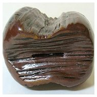 Late 1800s Heavy Pottery Mammoth Tooth Bank by John Owens