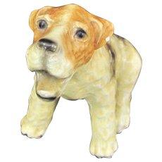 Vintage MORTEN'S STUDIO FOX Terrier Dog Royal Design Figure Pottery Statue