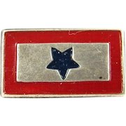 Vintage WWII SON IN Service Sterling Pin Silver Military Enamel