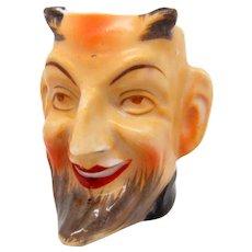 Vintage Occupied Japan Devil Toothpick Holder Figural Toby Jug