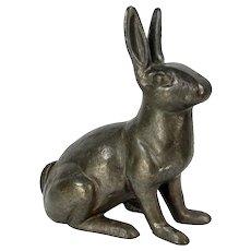Vintage Cast Iron Bunny Rabbit Doorstop Statue Garden Statue Antique