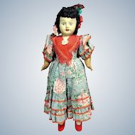 """Vintage SPAIN CELLULOID DOLL Walker Composition Limbs Inset Glass Eyes Orig. 21"""""""