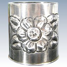 Vintage Maciel Sterling Toothpick Holder Mexico Silver Mexican Small Vase 80G