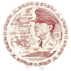 Vernon Kilns DOUGLAS MACARTHUR Collector Plate WWII General Camp Roberts 1942