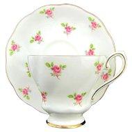 Vintage ROYAL GRAFTON ROSES Cup & Saucer Set Dainty Pink Rose