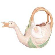 Vintage Fitz & Floyd SWAN CALLA LILY Pitcher Figural Floral 1988 Excellent