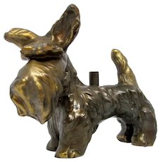 Vintage Bronze/Brass SCOTTISH TERRIER Figure Cast Metal Statue