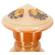 """Vintage Lustre Rose Glass Pendant Shade Tear Drop Bullet Ceiling Light 4"""" Footer"""
