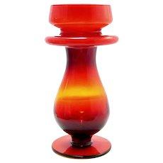 Vintage Cased Amberina Vase Scandinavian Swedish Mid Century Modern