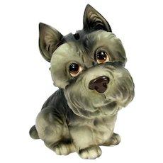Vintage Lefton Scottish Yorkie Terrier Coin Still Bank Scottie Dog Japan H1240